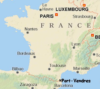 Map Of France South.Map Of South Coast Of France Kameroperafestival